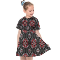 Abstract Black And Red Pattern Kids  Sailor Dress by Jojostore