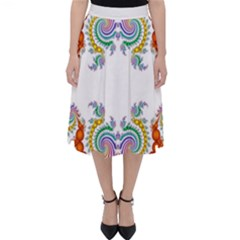 Fractal Kaleidoscope Of A Dragon Head Classic Midi Skirt