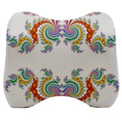 Fractal Kaleidoscope Of A Dragon Head Velour Head Support Cushion