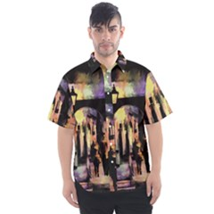 Street Colorful Abstract People Men s Short Sleeve Shirt