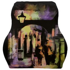 Street Colorful Abstract People Car Seat Velour Cushion  by Jojostore