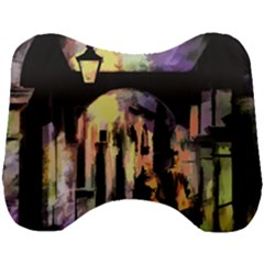 Street Colorful Abstract People Head Support Cushion by Jojostore