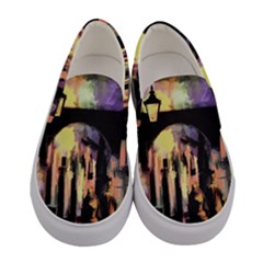 Street Colorful Abstract People Women s Canvas Slip Ons