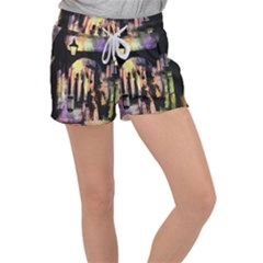 Street Colorful Abstract People Women s Velour Lounge Shorts by Jojostore