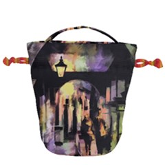 Street Colorful Abstract People Drawstring Bucket Bag by Jojostore