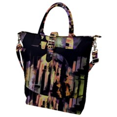 Street Colorful Abstract People Buckle Top Tote Bag