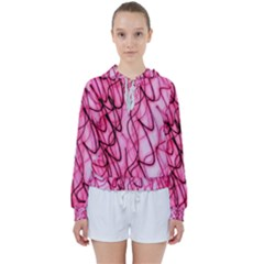 An Unusual Background Photo Of Black Swirls On Pink And Magenta Women s Tie Up Sweat