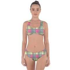 Seamless Pattern Seamless Design Criss Cross Bikini Set by Sapixe