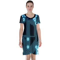 Seamless Repeat Repetitive Short Sleeve Nightdress
