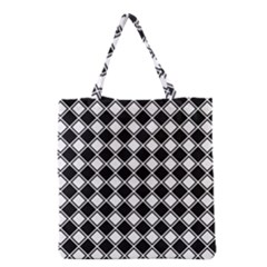 Square Diagonal Pattern Seamless Grocery Tote Bag