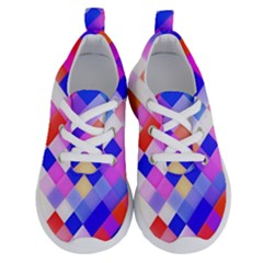 Squares Pattern Geometric Seamless Running Shoes by Sapixe
