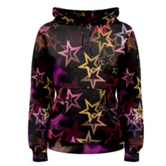 Stars Background Pattern Seamless Women s Pullover Hoodie