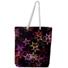 Stars Background Pattern Seamless Full Print Rope Handle Tote (large)