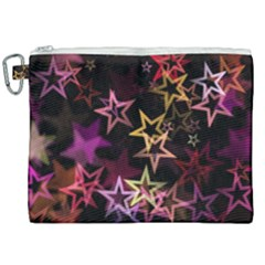 Stars Background Pattern Seamless Canvas Cosmetic Bag (xxl) by Sapixe