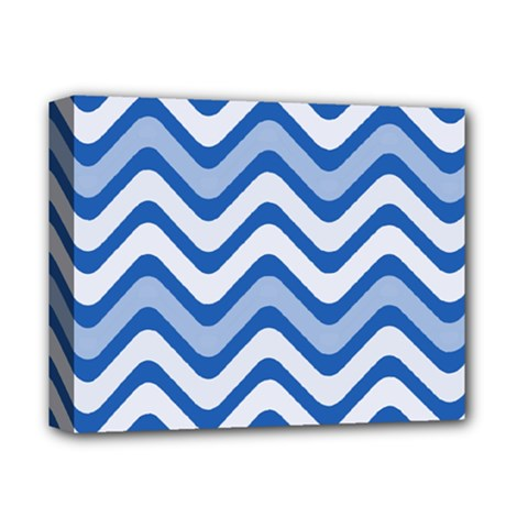 Waves Wavy Lines Pattern Design Deluxe Canvas 14  X 11  (stretched)