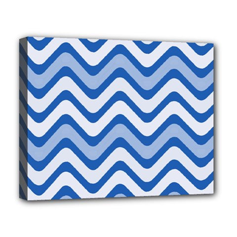 Waves Wavy Lines Pattern Design Deluxe Canvas 20  X 16  (stretched) by Sapixe