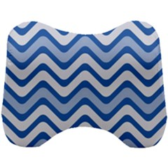 Waves Wavy Lines Pattern Design Head Support Cushion by Sapixe
