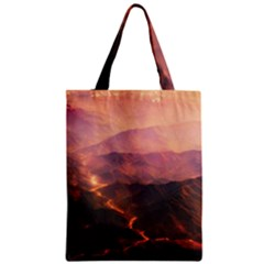 Volcanoes Magma Lava Mountains Zipper Classic Tote Bag