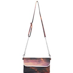 Volcanoes Magma Lava Mountains Mini Crossbody Handbag by Sapixe