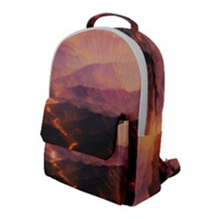 Volcanoes Magma Lava Mountains Flap Pocket Backpack (large) by Sapixe