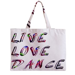 Live Love Dance Plume Medium Tote Bag by alllovelyideas