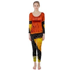 Colorful Glass Mosaic Art And Abstract Wall Background Long Sleeve Catsuit by Jojostore
