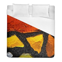 Colorful Glass Mosaic Art And Abstract Wall Background Duvet Cover (full/ Double Size) by Jojostore