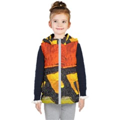 Colorful Glass Mosaic Art And Abstract Wall Background Kid s Hooded Puffer Vest