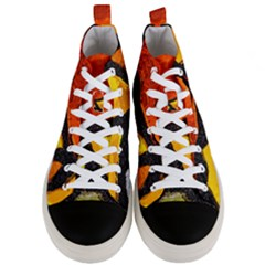 Colorful Glass Mosaic Art And Abstract Wall Background Men s Mid Top Canvas Sneakers