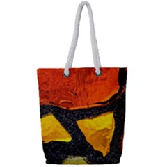 Colorful Glass Mosaic Art And Abstract Wall Background Full Print Rope Handle Tote (small)