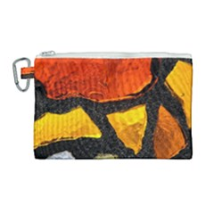 Colorful Glass Mosaic Art And Abstract Wall Background Canvas Cosmetic Bag (large) by Jojostore