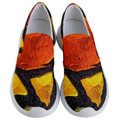 Colorful Glass Mosaic Art And Abstract Wall Background Women s Lightweight Slip Ons