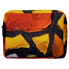 Colorful Glass Mosaic Art And Abstract Wall Background Make Up Pouch (large)