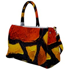 Colorful Glass Mosaic Art And Abstract Wall Background Duffel Travel Bag by Jojostore