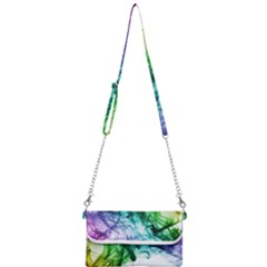 Colour Smoke Rainbow Color Design Mini Crossbody Handbag by Jojostore
