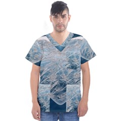 Frozen Heart Men s V Neck Scrub Top
