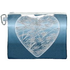 Frozen Heart Canvas Cosmetic Bag (xxl) by Jojostore