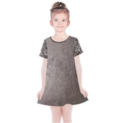 Wordsworth Grey Mix Kids  Simple Cotton Dress