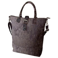 Wordsworth Grey Mix 2 Buckle Top Tote Bag
