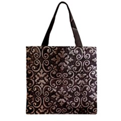 Wordsworth Grey Mix 3 Zipper Grocery Tote Bag