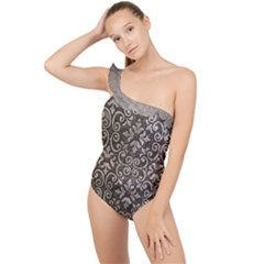 Wordsworth Grey Mix 3 Frilly One Shoulder Swimsuit
