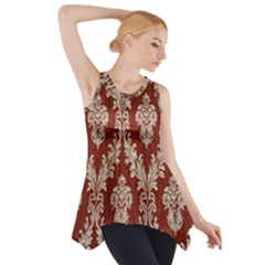 Chorley Weave Brown Side Drop Tank Tunic