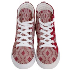 Chorley Weave Red Men s Hi Top Skate Sneakers