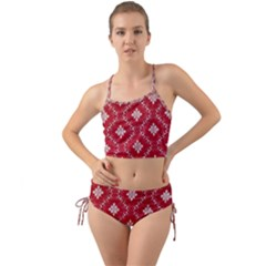 Chorley Weave Red Mini Tank Bikini Set