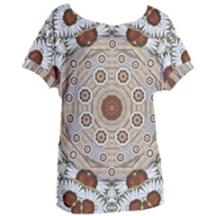 Flower Wreath In The Jungle Wood Forest Women s Oversized Tee
