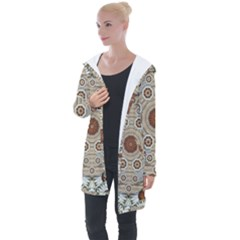 Flower Wreath In The Jungle Wood Forest Longline Hooded Cardigan