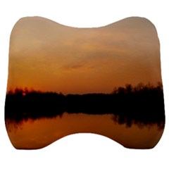 Sunset Nature Velour Head Support Cushion by Sapixe