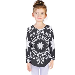 Table Pull Out Computer Graphics Kids  Long Sleeve Tee by Sapixe
