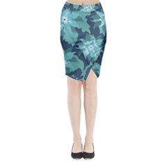 Graphic Design Wallpaper Abstract Midi Wrap Pencil Skirt
