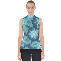 Graphic Design Wallpaper Abstract Mock Neck Shell Top